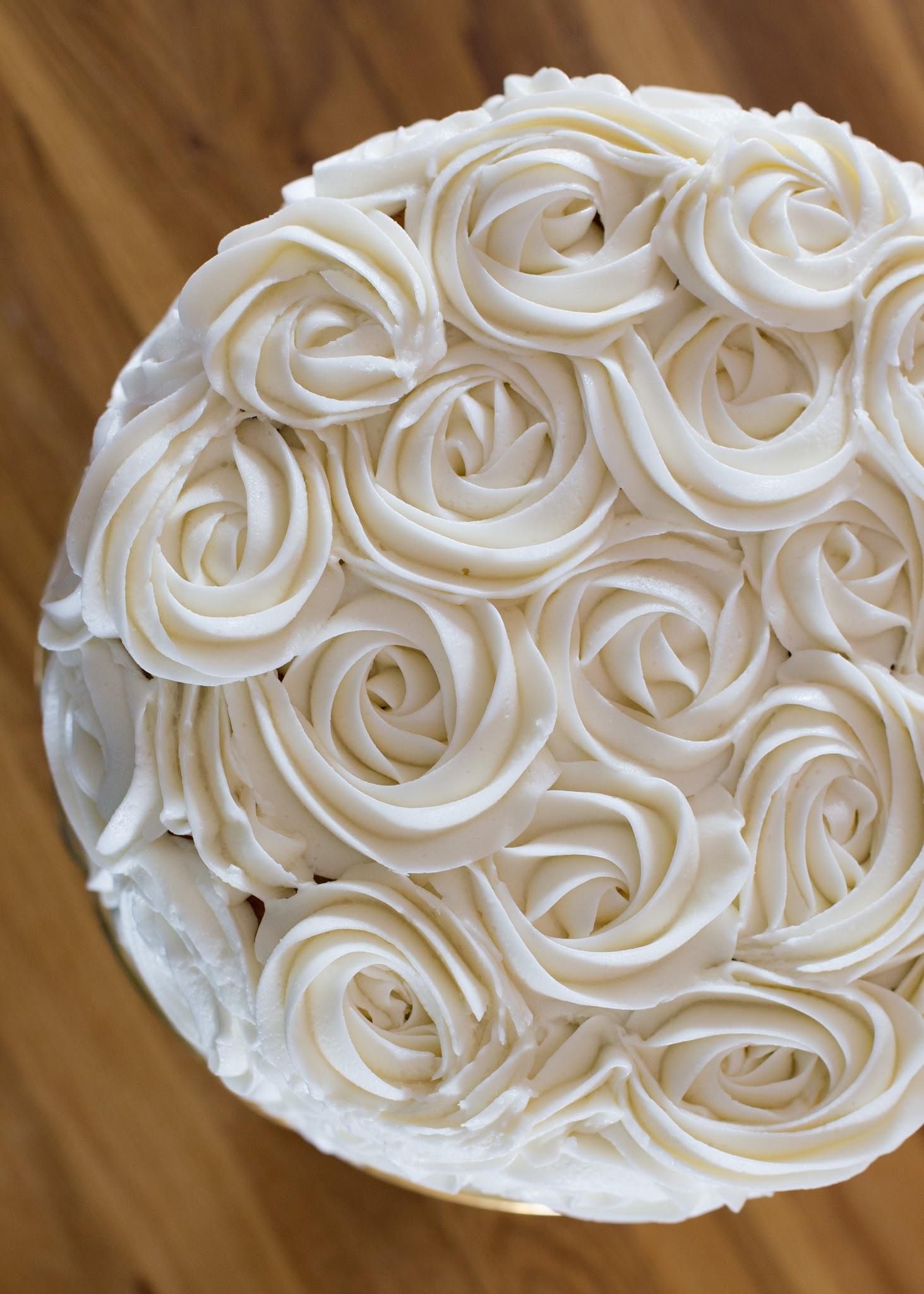 how to make a rose cake
