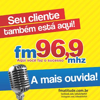 AGREGUE SUA MARCA A MAIOR EMPRESA DE COMUNICAÇÃO DA REGIÃO NORTE, RÁDIO ATITUDE FM 96,9