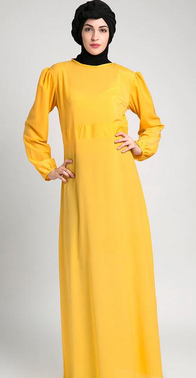 Permalink to 10 Model Baju Muslim Gamis untuk Orang Gemuk