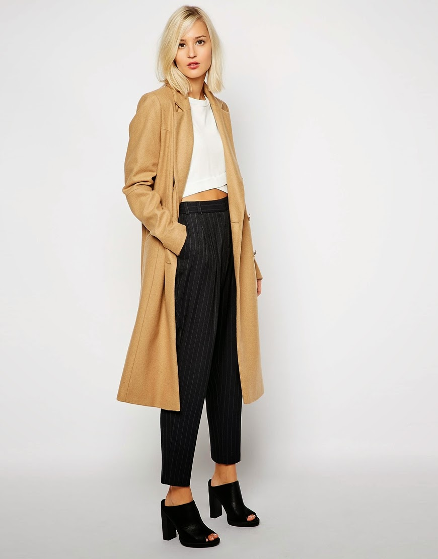 river island long camel coat