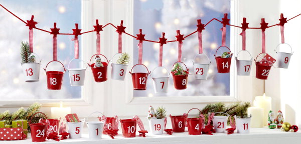 Lebendiger adventskalender wedding