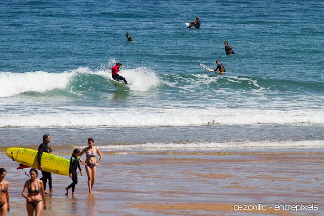 Carlos Caicoya en Playa España