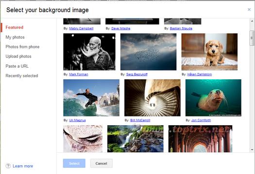 custom background in gmail