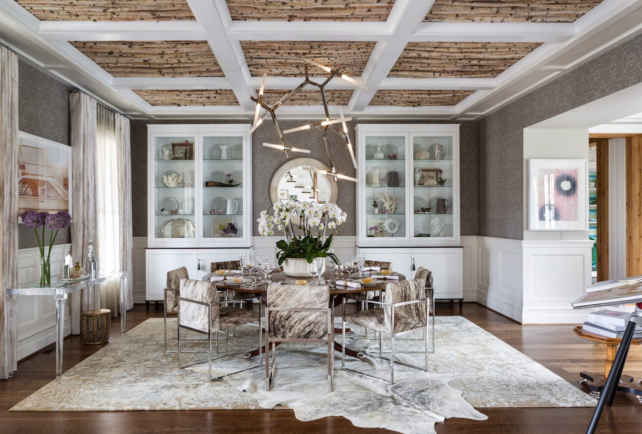 Debbie jacobs it is decorator showhouse time for Brown dining room ideas