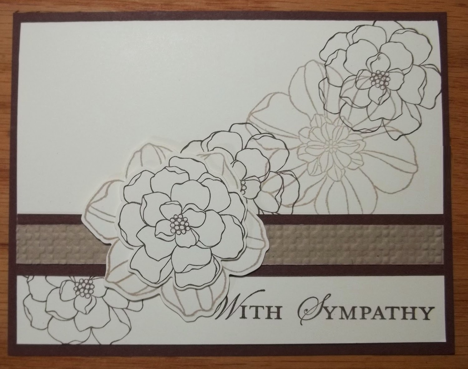 Sympathy card made with Stampin'UP!'s Secret Garden stamp set
