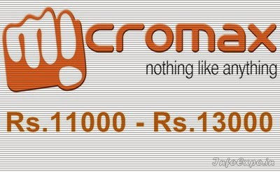 Best Micromax Smartphones Pricing Rs.11000 to Rs.13000