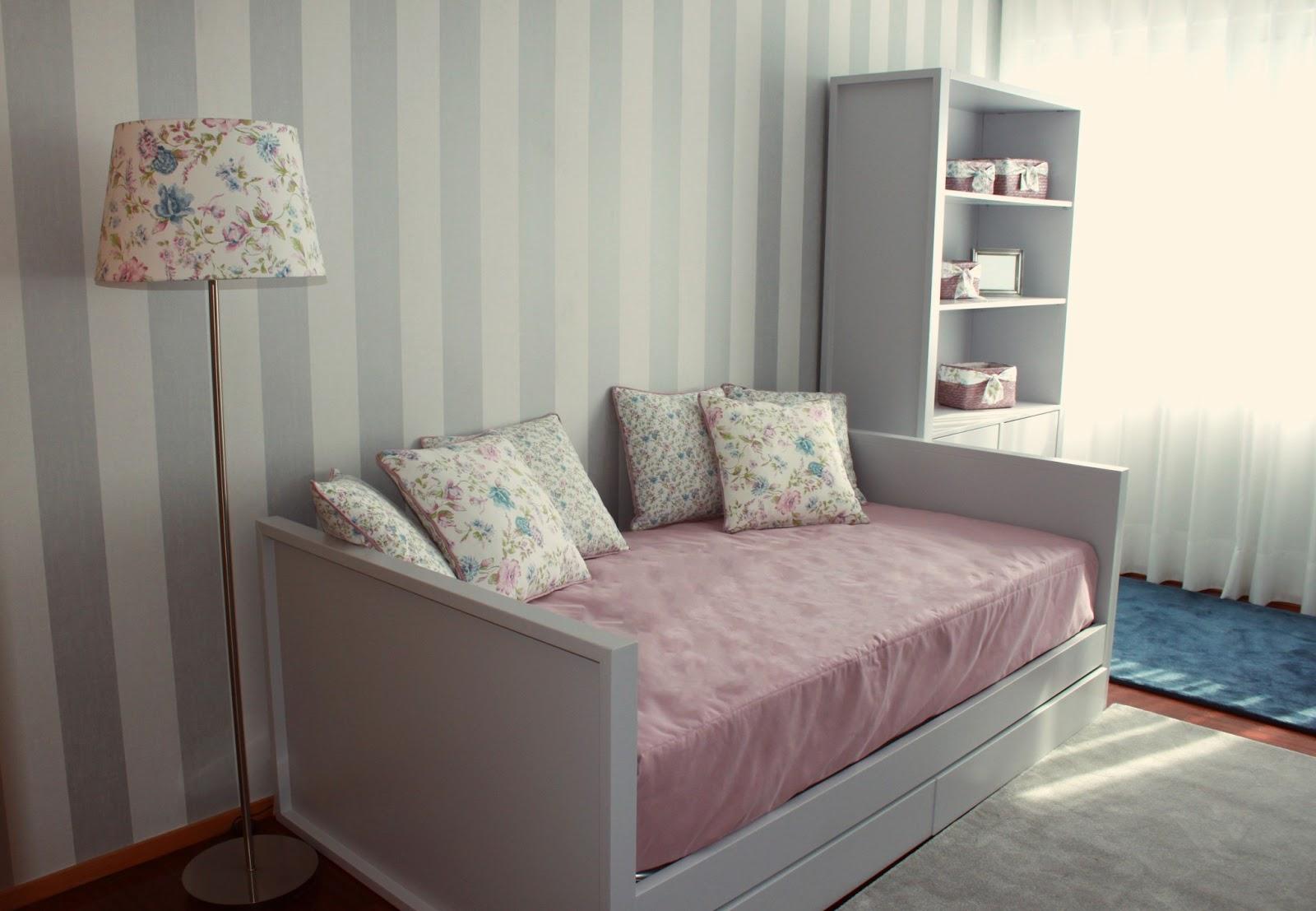 Noz moscada Interiores Quarto de menina cinzento com  ~ Quarto Rosa Azul