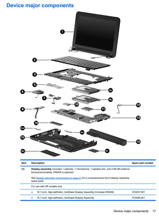 hp 110s laptops owners manual gallery