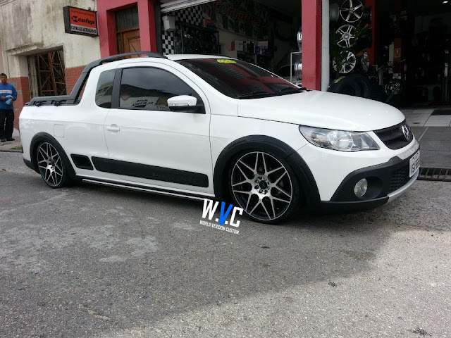 Saveiro Cross G5 com rodas aro 18""