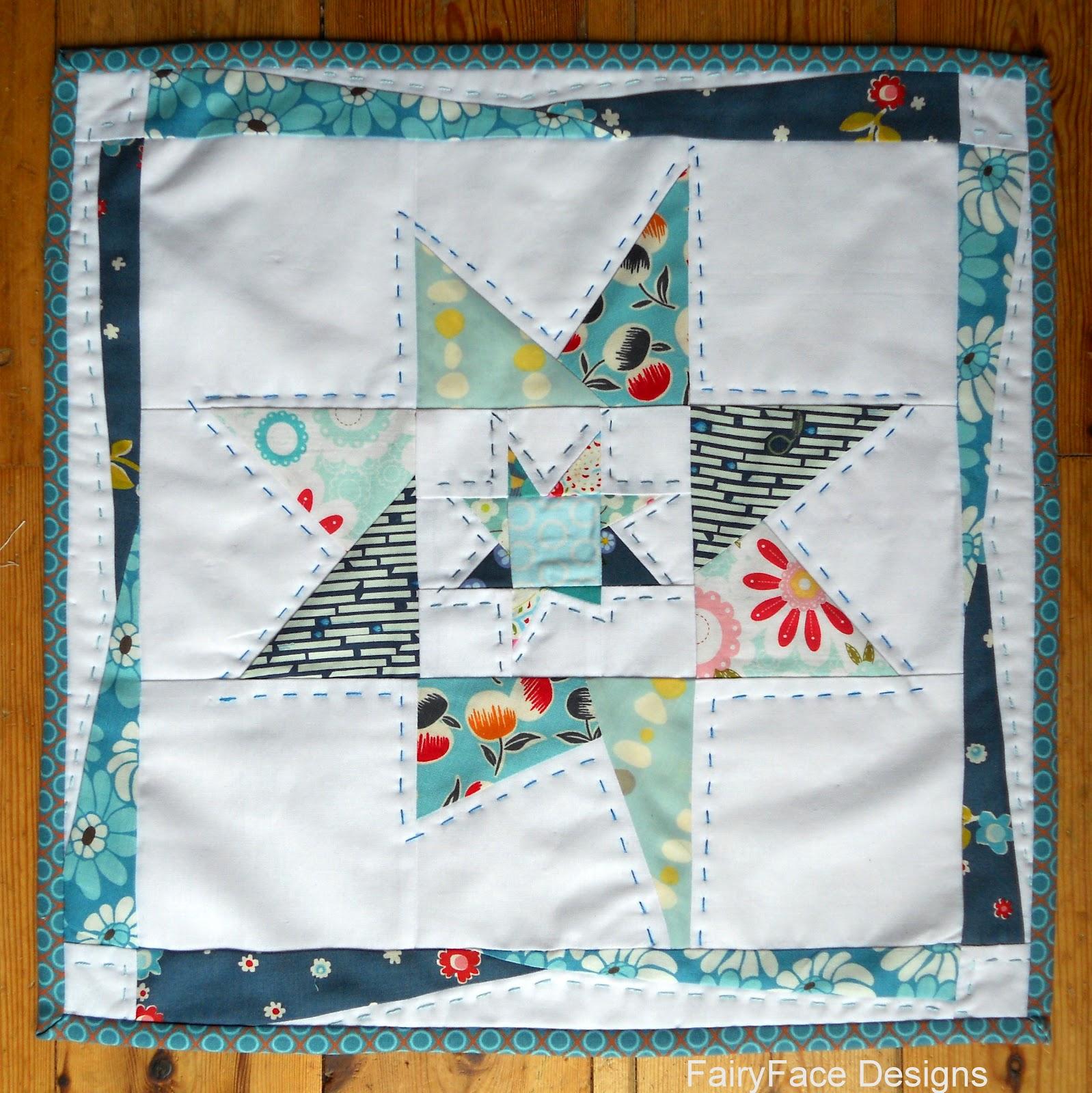 Fairyface Designs Wonky Star Mini Quilt