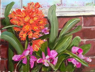 Orchids and Amaryllis, Kath Schifano