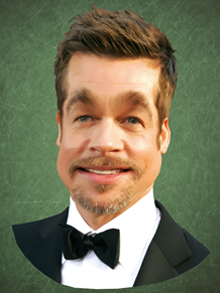 brad pitt, brad, pitt, caricatura, caricature, cartoon