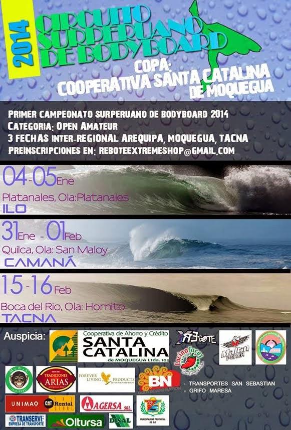 CIRCUTITO SUR PERUANO DE BODYBOARD 2014