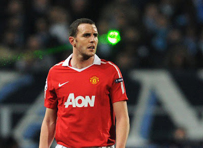 Champions League, John OShea Manchester United,Laser Light