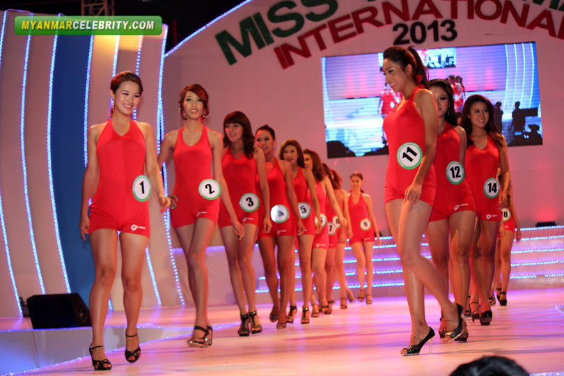 Swimwear Show @ Miss Myanmar International 2013