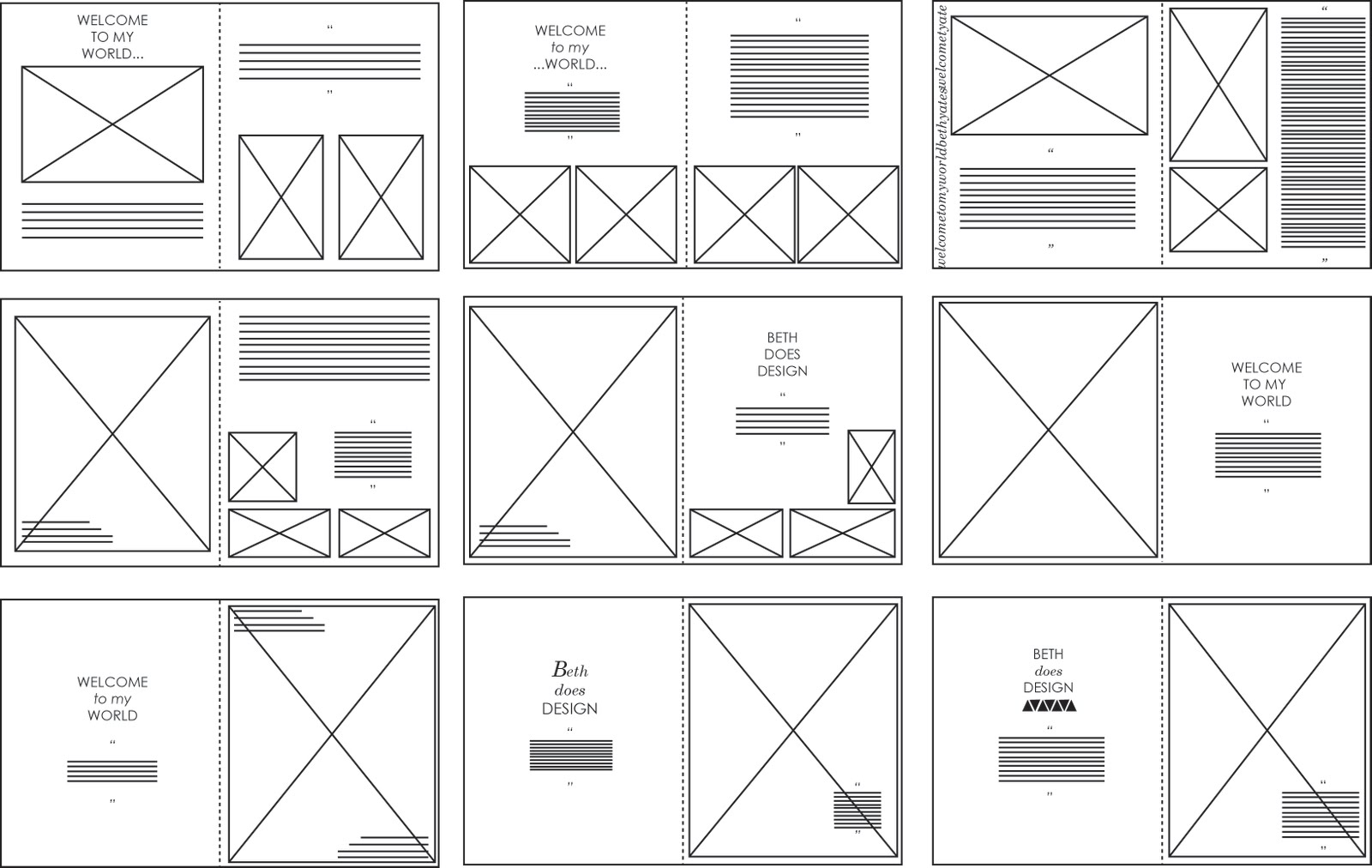 Sophie Wilson//Design Practice: InDesign layouts: Vectored.