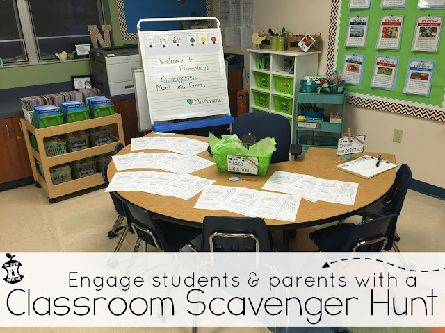 Engage students and parents with a classroom scavenger hunt!