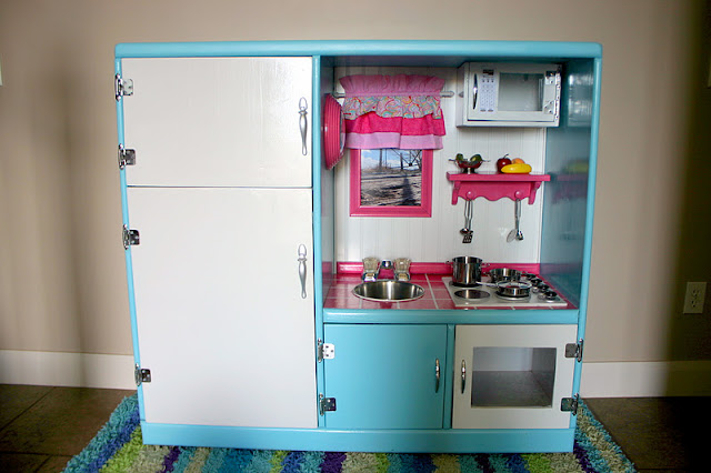 Doubletake Decor Play Kitchen Made From An Old