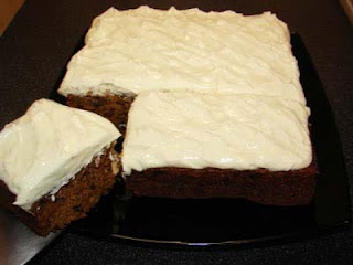Carrot pie with cream cheese frosting