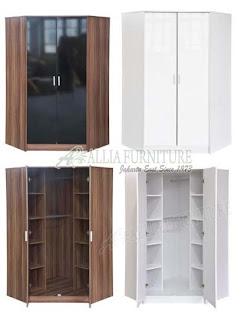 lemari pakaian sudut 2 pintu