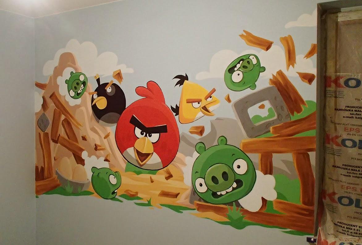 Mural reklama airbrush artystyczne malowanie d for Angry bird mural