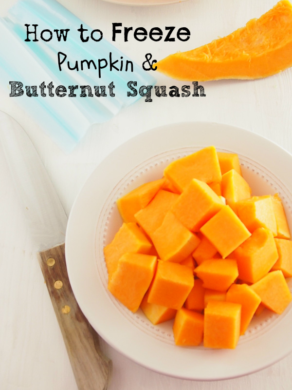 how to freeze a cut butternut squash