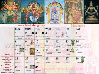 Hindu Calendar 2014 with Tithi