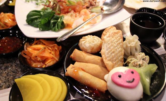 Buffet de comida china en Daehangno