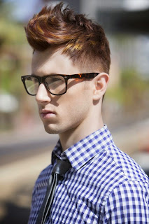 short and nice urban hairstyle for men
