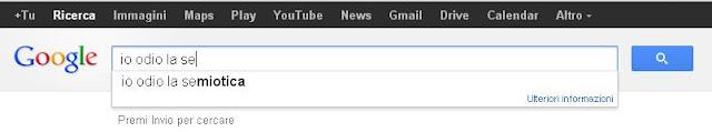 """Googlare """"io odio la se..."""""""
