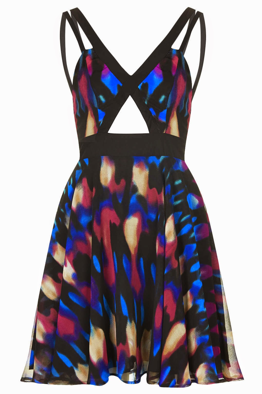 strappy midriff dress