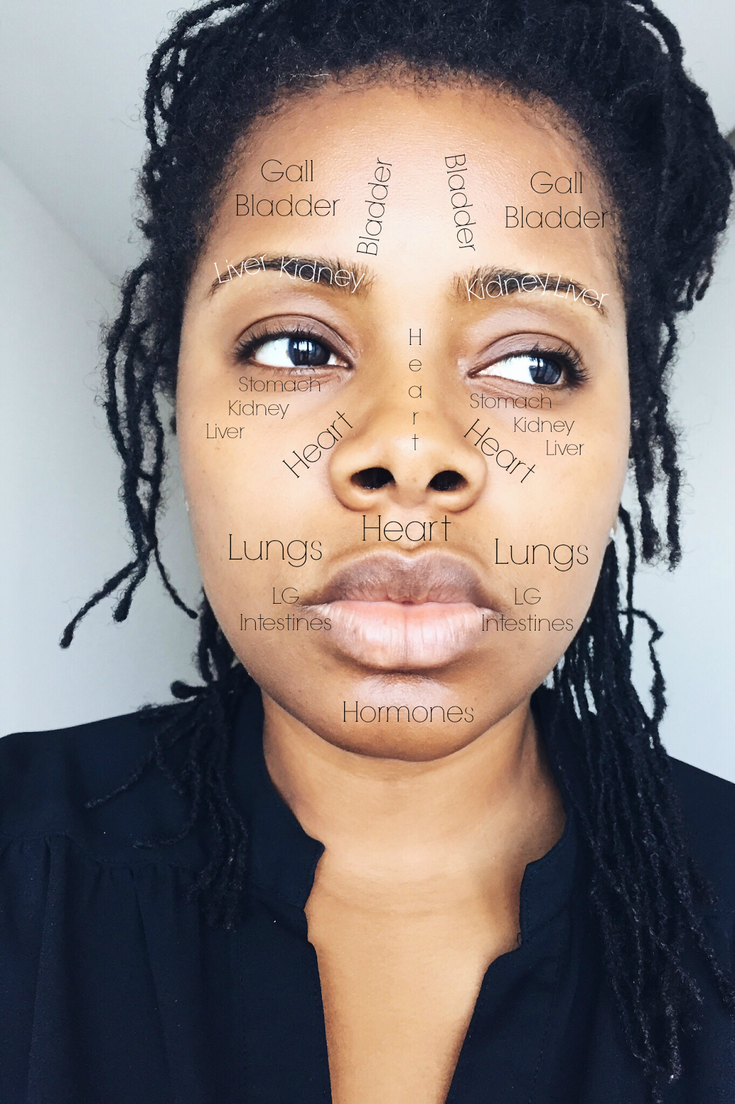 Face Mapping And How To Diagnose Your Acne Sisterlocked - Chinese face map for acne