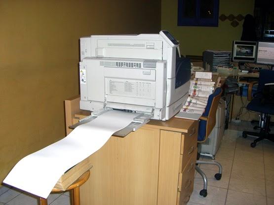Imprimint la plaquetona del Jaime