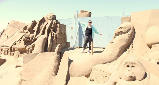 sand sculpture at weston sand festival 2015