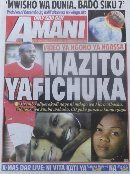 video ya ngono na mdogo wake flora mbasha kwa mujibu wa gazeti la