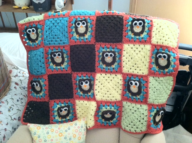 One Craft Short Of Crazy Owl Granny Square Afghan