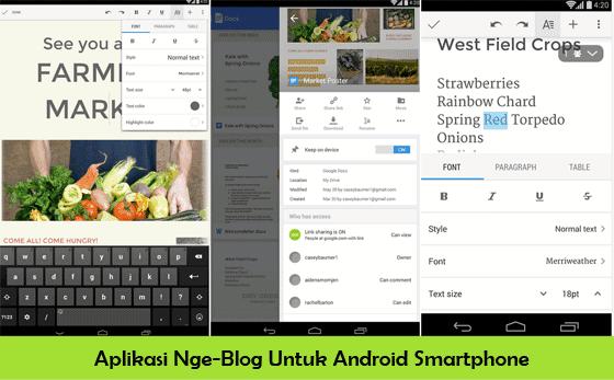 6 Aplikasi Android Terpopuler Untuk Para Blogger