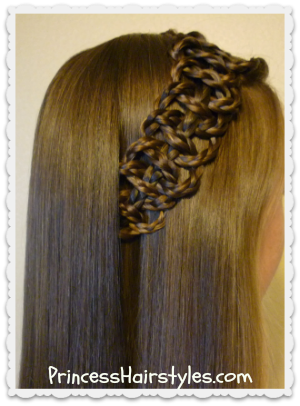 how to end a 4 strand braid