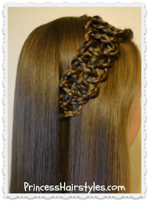 Braided 4 strand slide up accent hair tutorial