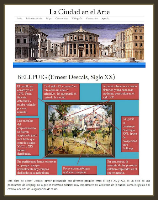 BELLPUIG-LLEIDA-PINTURA-CIUDAD-ARTE-CUADROS-PINTOR-ERNEST DESCALS