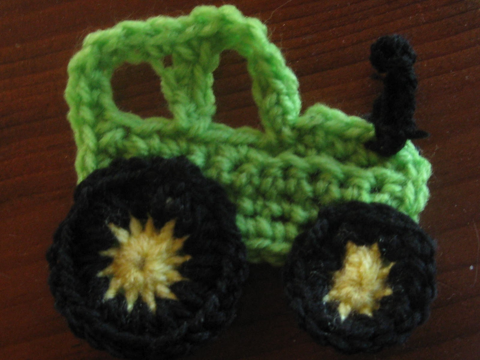 Knot Your Nana s Crochet  Tractor applique 452668e8380