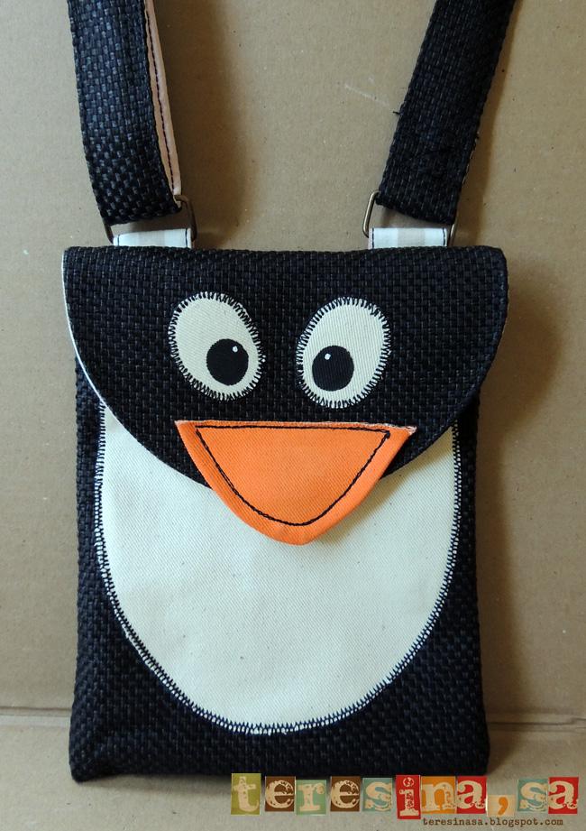 Bolso bandolera pingüino