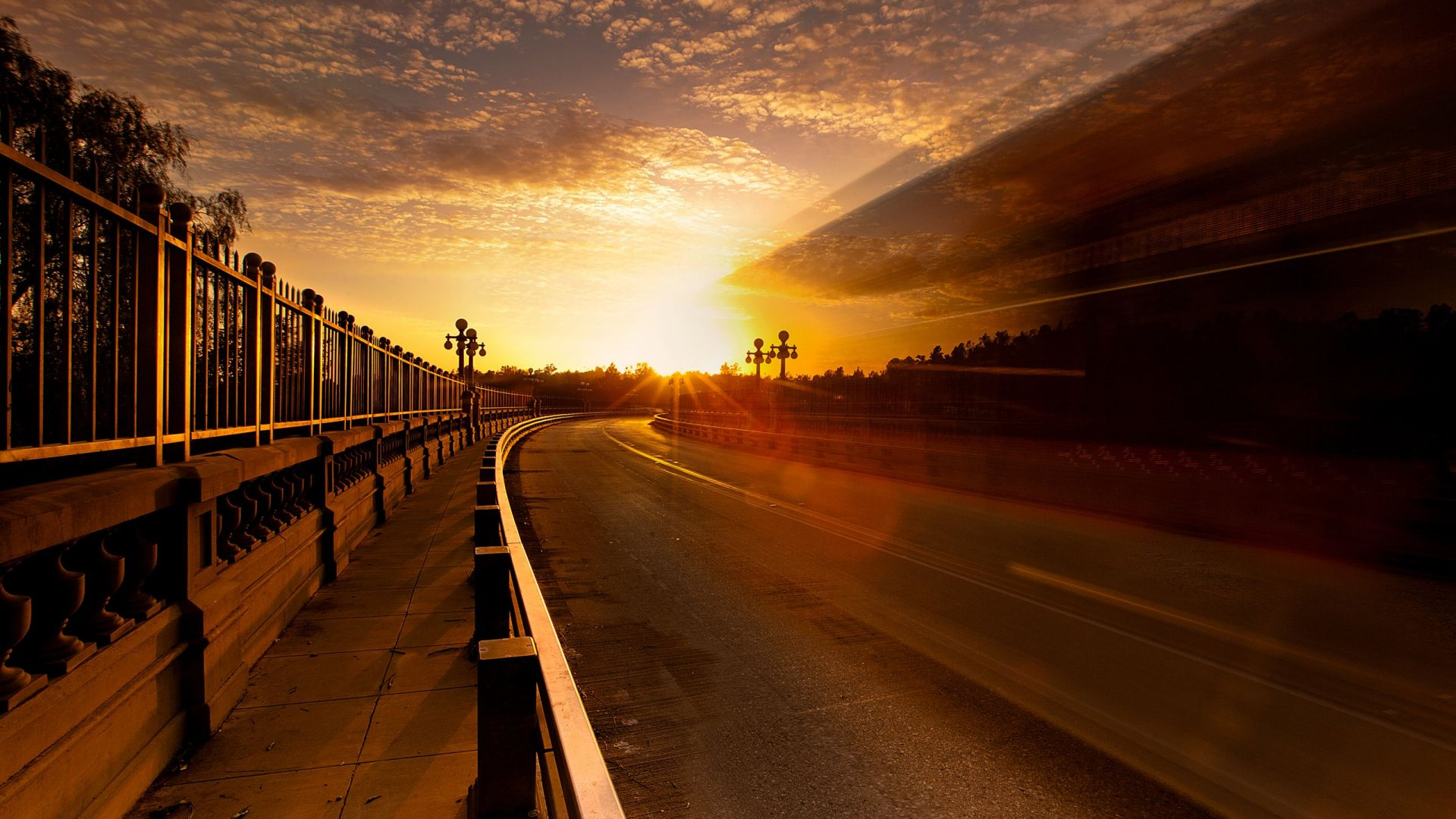 Road Sunset Wallpaper Road to Sunset - High ...
