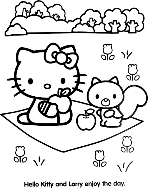 coloriage hello kitty lorry
