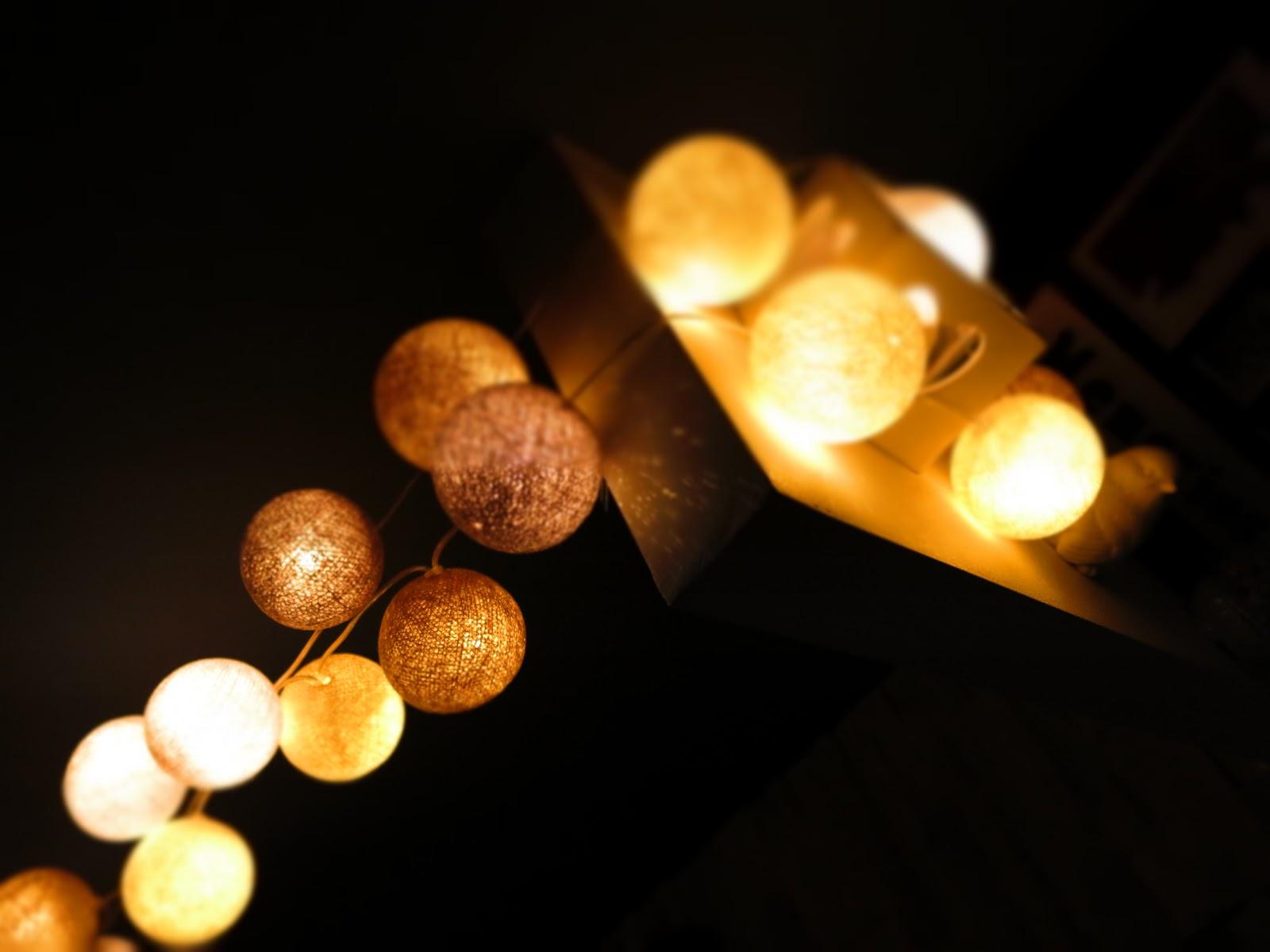 Moje Cotton Ball Lights ♥
