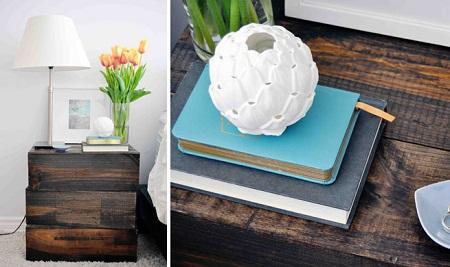 Mesas de noche recicladas ideas materiales for Ideas recicladas