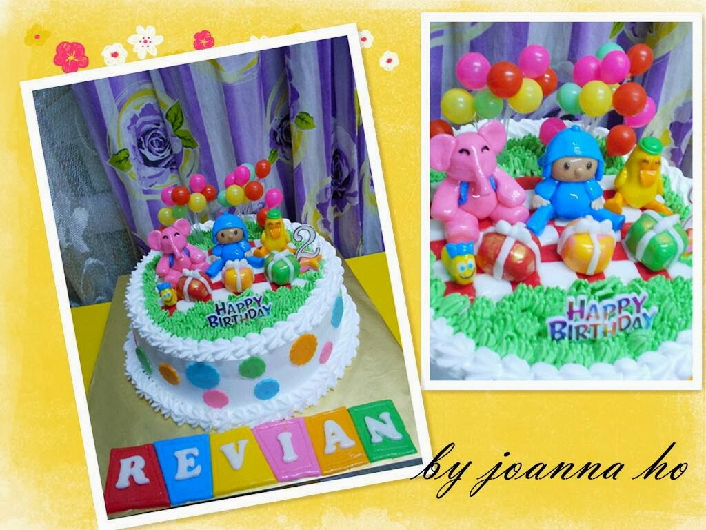 Pocoyo fresh cream cake & sugar pasta doll