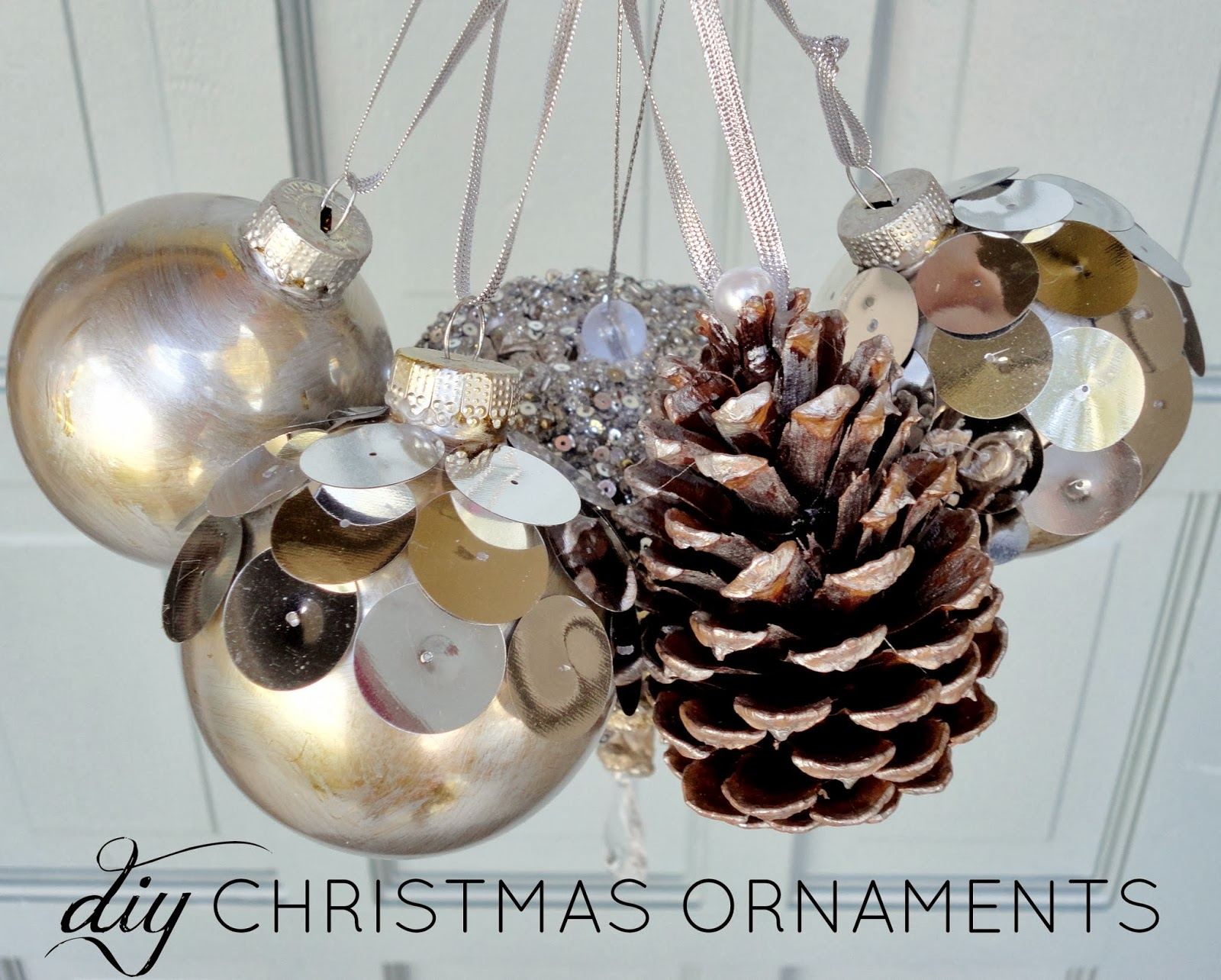 Livelovediy diy christmas ornaments ideas for Creative christmas ornaments homemade