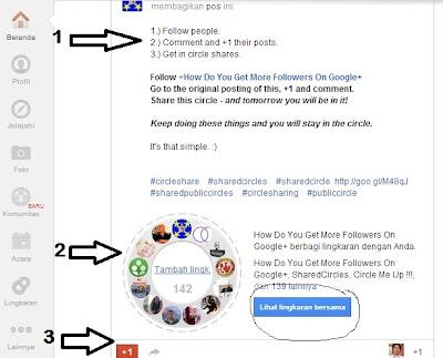 Cara Cepat Mendapatkan Folower di Google plus