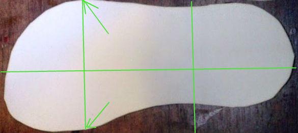 como marcar la plantilla a la medida dividida en tres partes